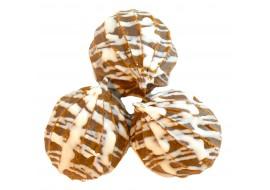 Пышка-хвастунишка со вкусом шоколада в белой глазури